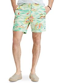 Polo Ralph Lauren Classic-Fit Hawaiian Print Prepster Shorts