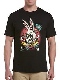 Psycho Bunny Tattoo Skull Bunny Graphic Tee