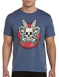 Psycho Bunny Tattoo Butterfly Bunny Graphic Tee
