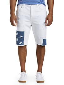 True Religion® Ricky Street Cred Rip & Repair Denim Shorts