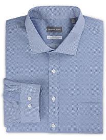 Michael Kors Non-Iron Mini Geo Print Stretch Dress Shirt