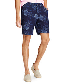 Polo Ralph Lauren® Classic Fit Bedford Floral-Print Chambray Shorts