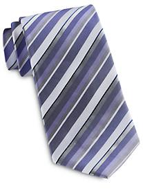 Geoffrey Beene Bright White Stripe Tie