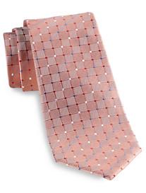 Geoffrey Beene® Frosted Grid Silk Tie