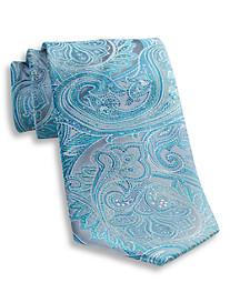 Geoffrey Beene® Platinum Paisley Silk Tie