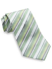 Geoffrey Beene® White Stripe Silk Tie