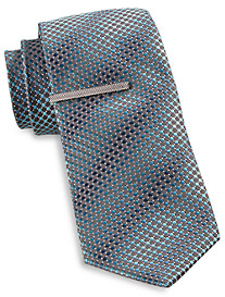 Gold Series Dot Grid Tie with Tie Bar