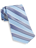 Gold Series Designed in Italy Chambray Stripe Silk Tie