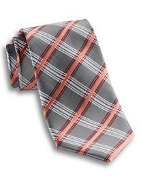 Synrgy™ Grey Plaid Silk Tie
