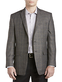 Andrew Fezza Charcoal Brown Plaid Sport Coat