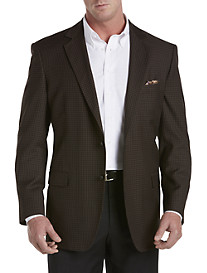 Oak Hill® Jacket-Relaxer™ Brown Gingham Sport Coat