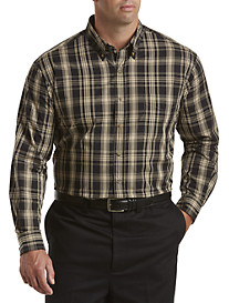 Harbor Bay® Easy-Care Plaid Sport Shirt