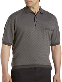 Harbor Bay® Double-Diamond Patterned Banded-Bottom Shirt
