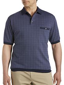 Harbor Bay® Square-Patterned Banded-Bottom Shirt