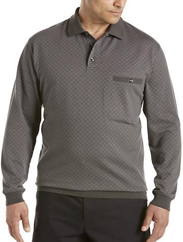 Harbor Bay® Jacquard Banded-Bottom Shirt (dark/light grey)