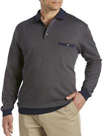 Harbor Bay® Diamond Jacquard Banded-Bottom Shirt