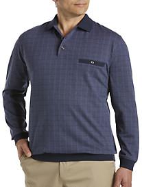 Harbor Bay® Square Jacquard Banded-Bottom Shirt