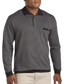 Harbor Bay® Houndstooth Jacquard Banded-Bottom Shirt