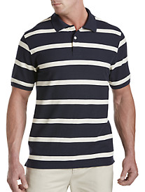 Harbor Bay® Small Stripe Piqué Polo