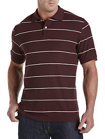 Harbor Bay® Narrow Stripe Piqué Polo