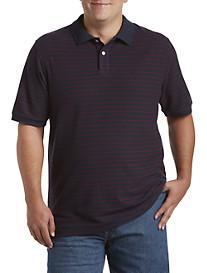 Harbor Bay® Bi-Color Stripe Piqué Polo