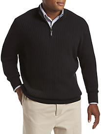 Oak Hill® 1/4-Zip Rib-Knit Pullover
