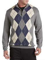 Oak Hill® 1/4-Zip Argyle Pullover