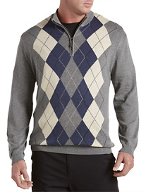 Oak Hill® 1/4-Zip Argyle Pullover