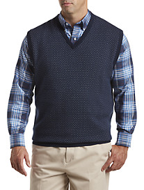 Oak Hill® Patterned V-Neck Vest