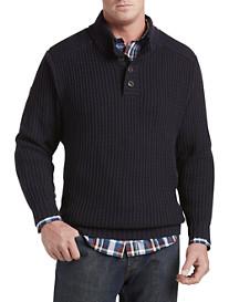 True Nation® Button Mockneck Sweater