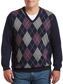 Harbor Bay® Argyle V-Neck Pullover