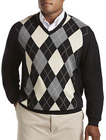 Harbor Bay® Argyle V-Neck Pullover