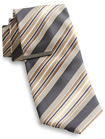 Gold Series Ombré Stripe Tie With Tie Bar
