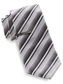 Gold Series Stripe Tie with Tie Bar