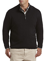 Oak Hill® 1/4-Zip Ribbed-Sleeve Pullover