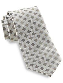 Geoffrey Beene® Fast Forward Grid Silk Tie