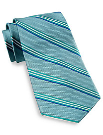 Gold Series DII Herringbone Stripe Silk Tie