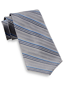 Gold Series DII Herringbone Stripe Silk Tie