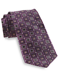Gold Series Designed in Italy Large Diamond Silk Tie