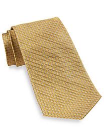 Gold Series Designed in Italy Herringbone Neat Silk Tie