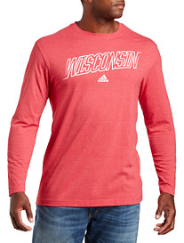 adidas® Collegiate Long-Sleeve Tee