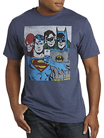 Superhero Group Selfie Graphic Tee