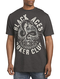 Black Aces Poker Club Graphic Tee