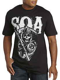 Sons of Anarchy Black Chalk Reaper Graphic Tee