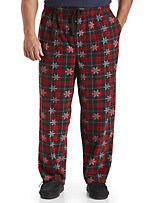 Harbor Bay® Plaid Snowflake Microfleece Pants