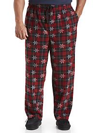Harbor Bay® Plaid Snowflake Microfleece Pants