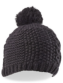 New York Glove Company Cable-Knit Pom-Pom Hat