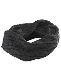 New York Glove Company Cable-Knit Loop Scarf
