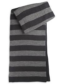 New York Glove Company Stripe Knit Scarf