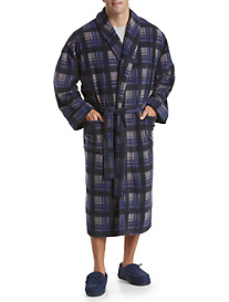 Harbor Bay® Plaid Fleece Robe